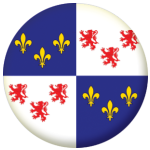 Picardy Province Flag 25mm Pin Button Badge